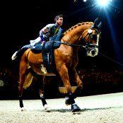 2.-7.09.2014, WEG Normandy; Caen. Zénith Stadium. Alltech FEI World Equestrian Games. Thomas BRÜSEWITZ (GER), horse: Airbus, lunger: Irina LENKEIT. picture: Daniel Kaiser - im|press|ions